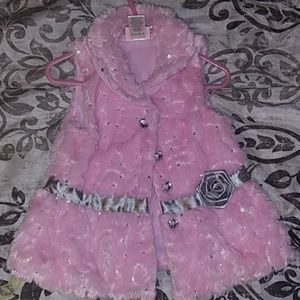 NWOT Little Lass gorgeous toddler girl pink vest
